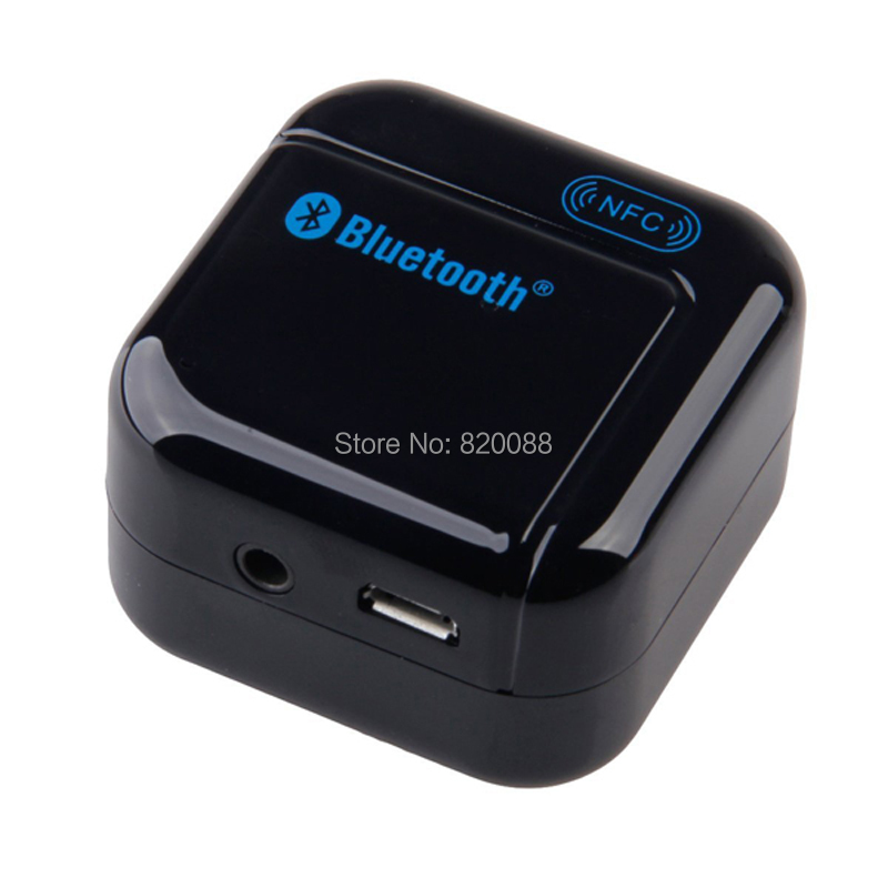 H-266 Black 3.5mm USB NFC Wireless Bluetooth Stereo Audio Music Receiver Adapter, Free Shipping(China (Mainland))