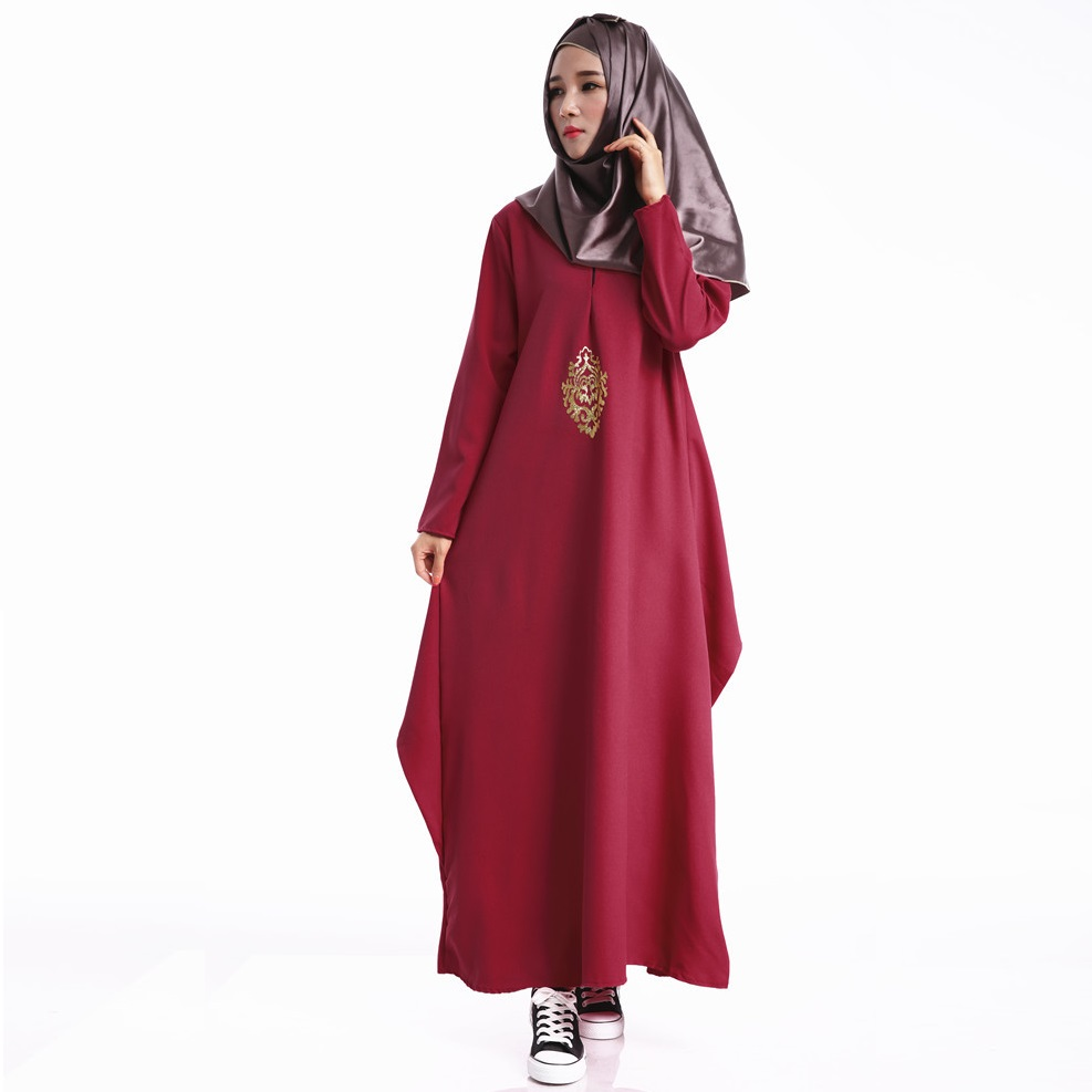 Muslim Robe For Women Long Sleeve Maxi Dress Plus Size Ethnic Clothing Autumn O-neck Solid Loose Dresses Hot Sale Long Vestidos