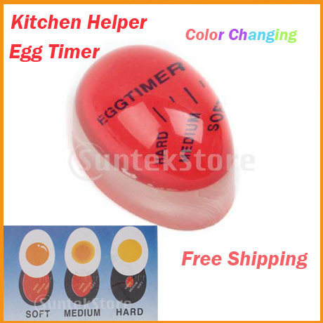 Free Shipping Color Changing Egg Timer Perfect Boiled Eggs Cooking Helper Kitchen Supplies