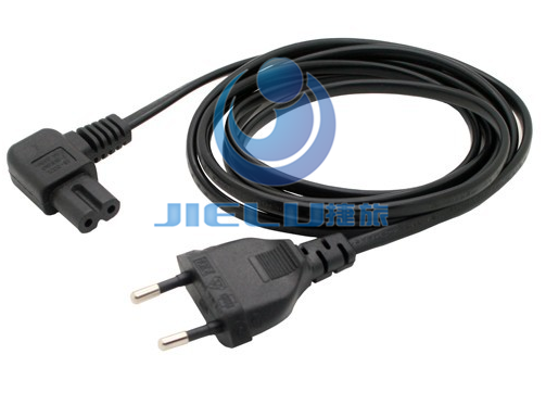 5m,European 2Pin Male Plug Angled IEC320 C7 Female Socket Power Cable,EU Adapter Cord  -  Wingsun Technology HongKong Co Limited store