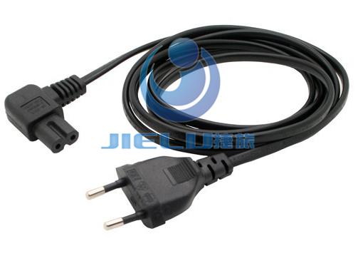 5m,1 pcs European 2Pin Male Plug to Angled IEC320 C7 Female Socket Power Cable,EU Power Adapter Cord(China (Mainland))