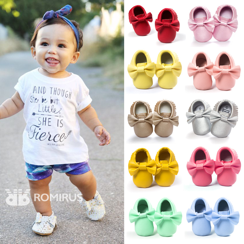 2016 First Walkers Baby Tassel Soft Sole Leather Shoes Infant Boy Girl Toddler Moccasin 0-24 Months Newborn Babies Shoes(China (Mainland))