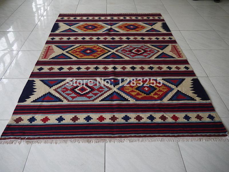 Turkish vintage handwoven wool carpets kilim carpet kilim - Tapete cappuccino ...