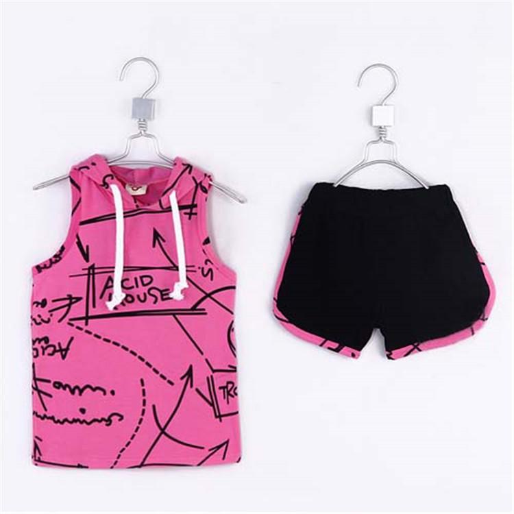 2015 summer  boys special print short T-shirt with hat & short pant kid boys fashion casual clothing sets boys clothes A1773(China (Mainland))