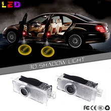 2x LED Door Step Courtesy Shadow Laser Light Mercedes Benz CLS CLA C207 - Logo Projector Center store