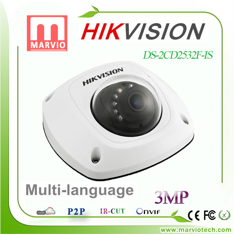 2015 New Hikvision dome camera DS-2CD2532F-I S W, audio,Wifi ,3MP Mini dome,Up to 10m IR Network camera,DS-2CD2532F-IWS<br><br>Aliexpress