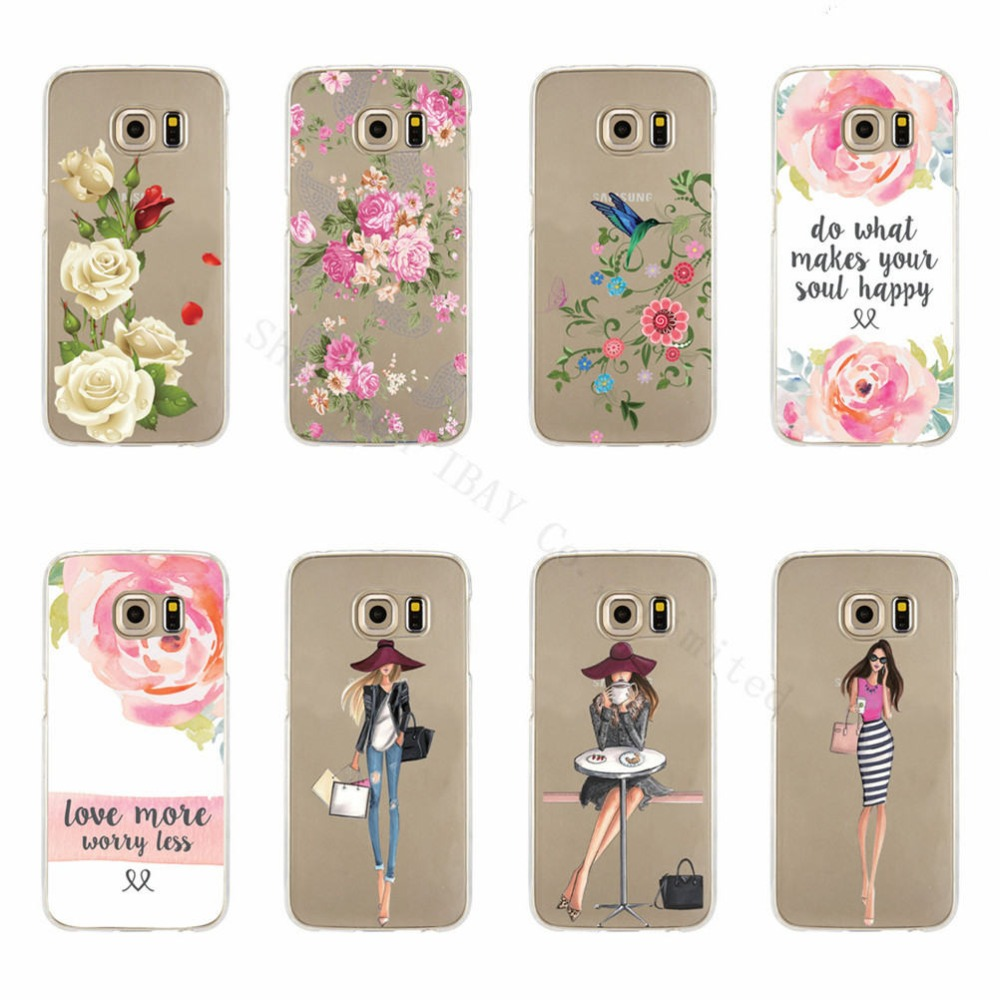 Flower Shopping Girls Case For Samsung Galaxy S4 S5 S6 ...