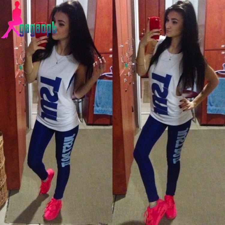 2015 summer designer brand women 3pcs workout gym sport costume hook logo tube top+tank+legging sexy clothing set tracksuit(China (Mainland))
