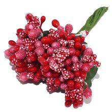 CCINEE 12 ชิ้น/ล็อต Mulberry Party ดอกไม้ประดิษฐ์ Stemen Stem/ใบสมรสแต่งงานกล่องตกแต่ง(China)