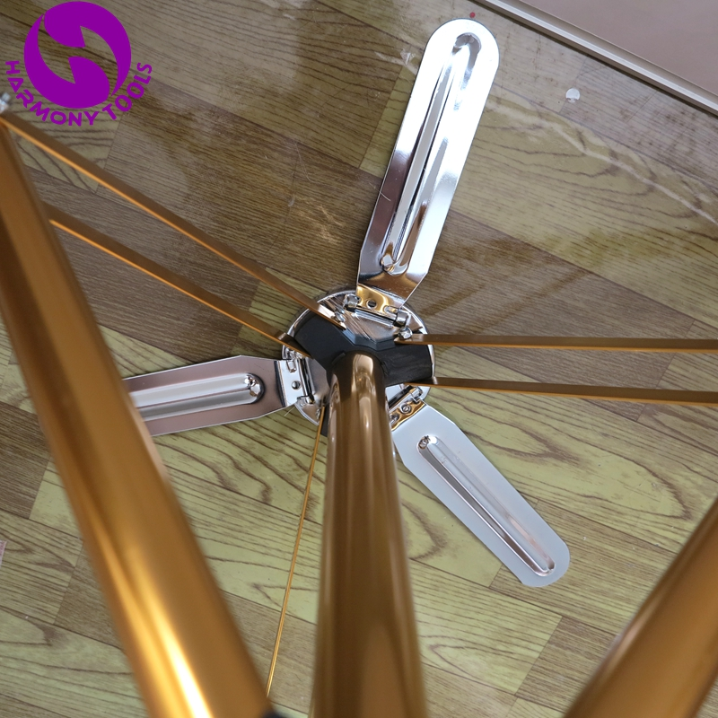 Gold Pedal Aluminum Alloy Hairdressing Training Head Tripod Adjustable Holder Clamp Floor Stand 8