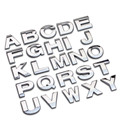 Top quality Personalized 3D metal English Letter emblem Digital Figure Number Chrome DIY Car word Badge