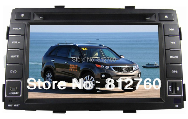 Car DVD player for  Kia Sorento 2009-2012 with GPS navigation Bluetooth Ipod Radio TV V-CDC 3G USB Host optional