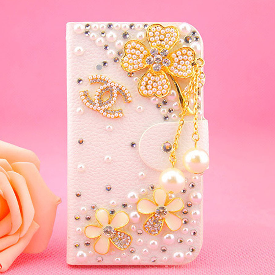 Luxury Rhinestone Crystal rose flower Wallet Bling Case Cover Diamond phone Back Cover for BlackBerry Q20/Q30/ Z3 with card slot(China (Mainland))