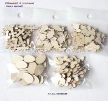 """(150pcs/set) 20mm Blank Natural Favor Wood Easter Very Small Mix Chick Cross Butterfly Egg Robbit 0.78""""-H8099558(China (Mainland))"""