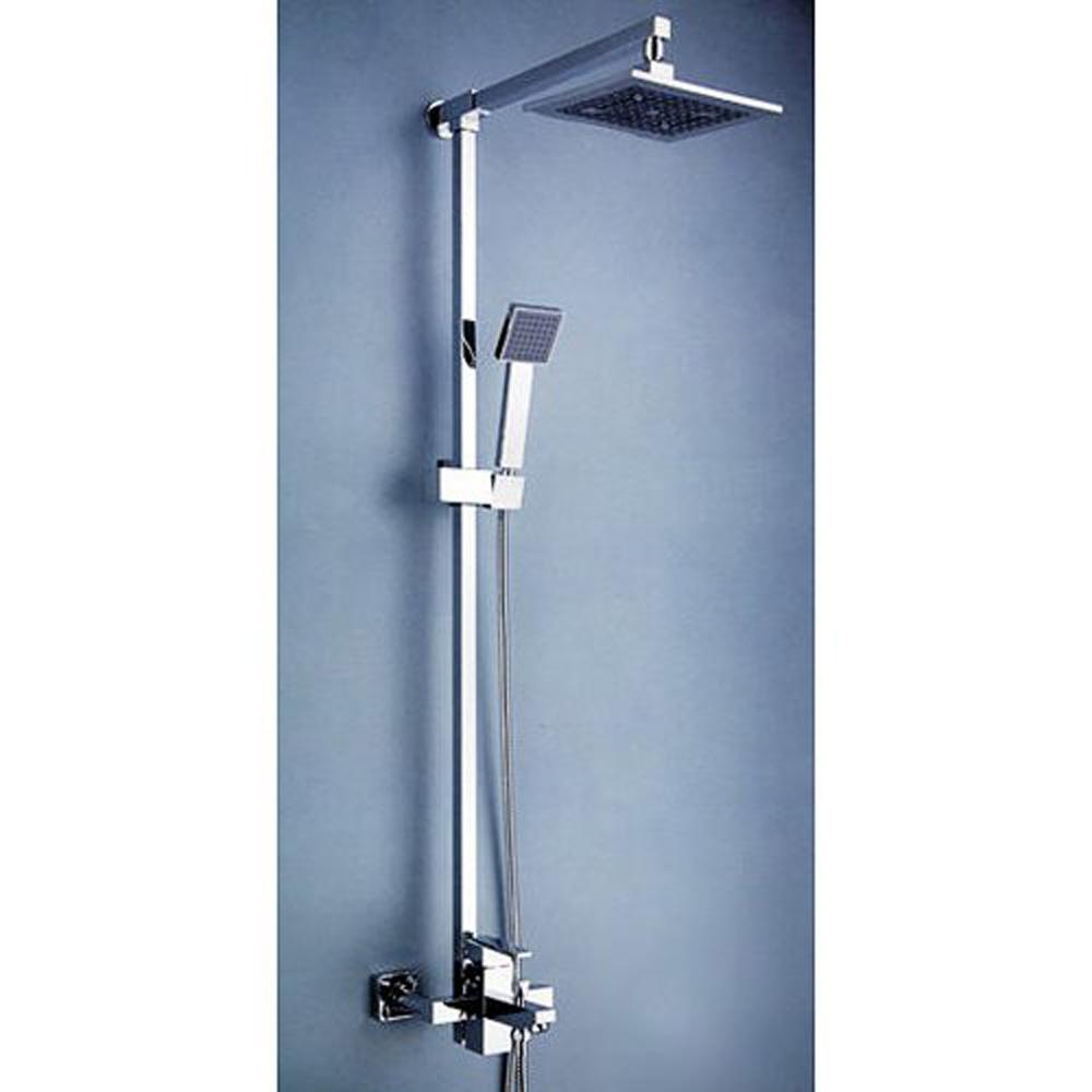 "Contemporary 8 ""Shower Head and Hand Shower Tub Shower Faucet Set with Slide Bar,Chrome(China (Mainland))"