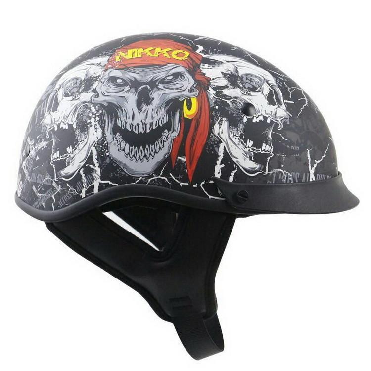 THH T7 2Harley  Motor road Bike downhill Vintage motorcycle helmet vintage helmet skull half helmet summer safety helmet
