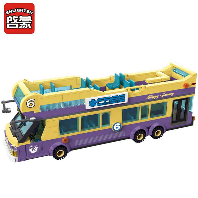 ENLIGHTEN City Sightseeing Bus Building Blocks Compatible with Lego Bus Blocks Toy for Children Educational DIY Blocks Toys 1123(China (Mainland))