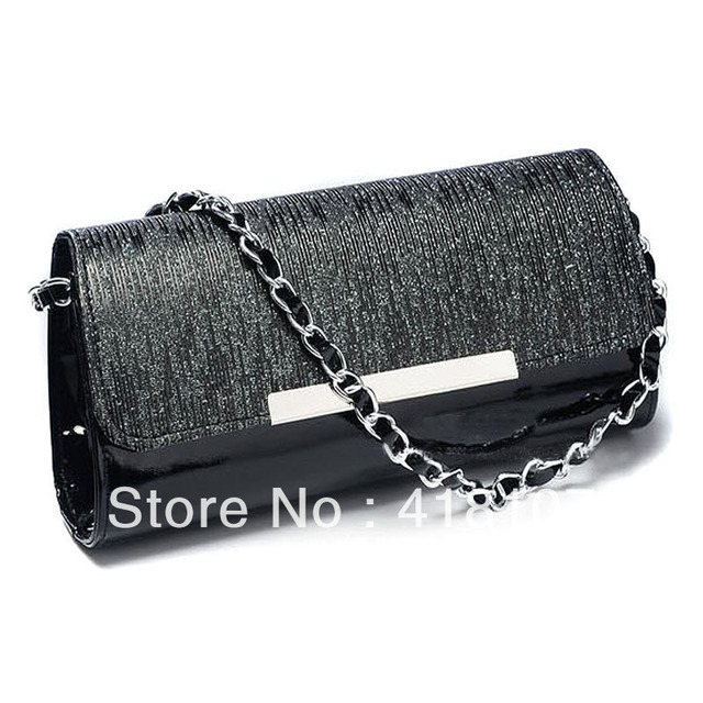 2013 paillette japanned leather chain Women clutch small bag evening bag day clutch women's handbag