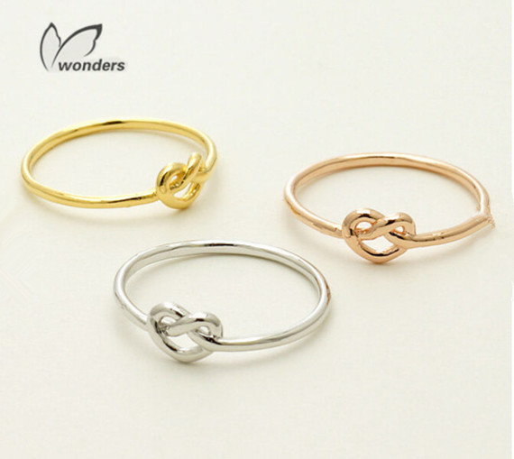 Minimalist jewelry vintage rings rose gold plated infinity for Infinity ring jewelry store