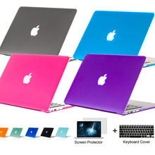 3in1 Matte Slim laptop case laptop notebook PC bag for Macbook air Pro 11 12 13 15 inch cover for macbook pro Retina 13.3 15.4(China (Mainland))