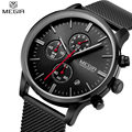 MEGIR Watches men Stainless Steel Mesh strap band Quartz watch thin Dial Clock man Fashion simple