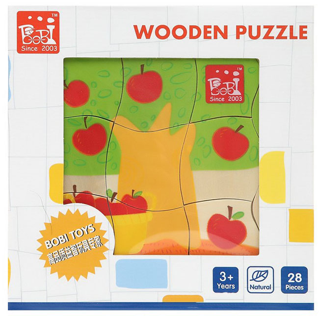 DIY Kits Apple Tree Puzzle Wooden 3D Multilayer Baby Learning & Educational Toys Christmas Gift Children - George Ye's store