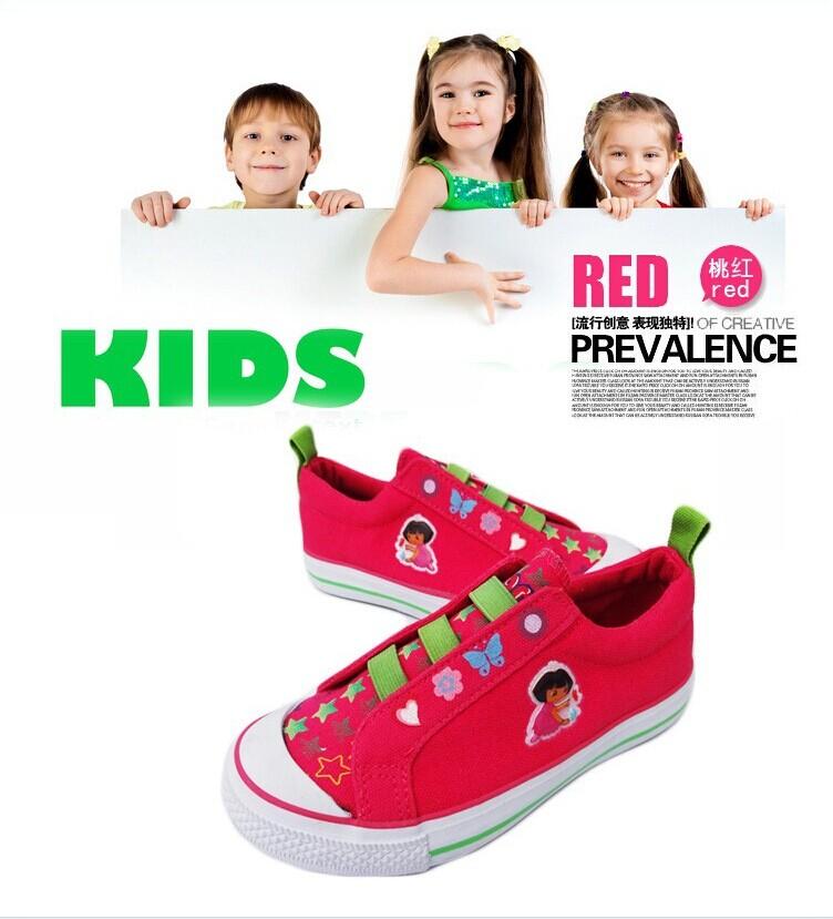 Nick dora female child girl canvas shoes baby toddler shoes children canvas shoes child sneakers(China (Mainland))