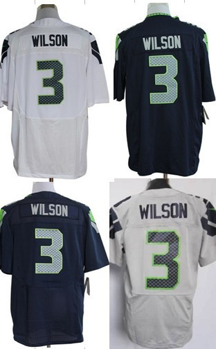 Free Shipping American #3 Russell Wilson Jerseys,Mens Elite/Game Blue/White/Grey Football Jersey,Accept Mix Order