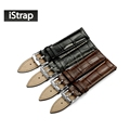 iStrap Italian calf leather watchband watch strap with pin buckle watch band for omega for tissot