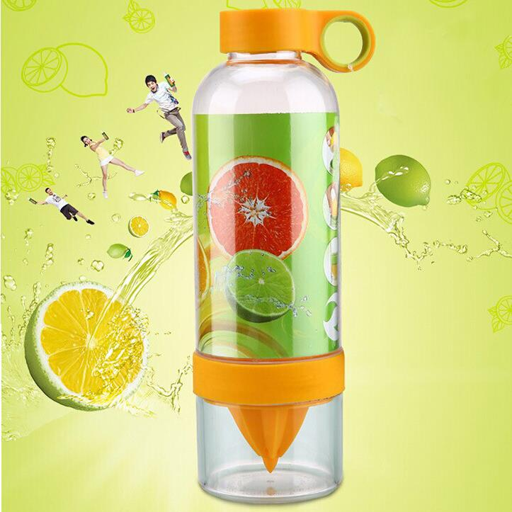 2015 Lemon Cup My Fruit Bottle Juice Readily Cup Drinking Water Bottle Cup Drinkware for outdoor sports bike water bottle 5119(China (Mainland))