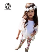 New Baby Girl Set Girls Europe Fashion 3pcs Suits Children Clothing Sets Kids Summer Outfits Sets Toddler Baby Girls Clothes