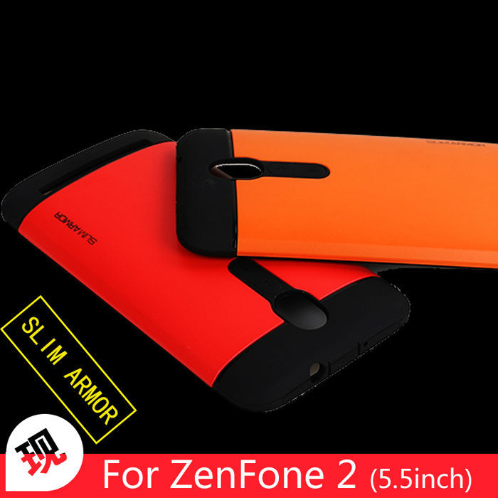 New SGP Cover For ASUS ZenFone2 Dual Layer Plastic And Silicone Case For ASUS ZenFone 2 ZE551ML Slim Armor Phone Case(China (Mainland))