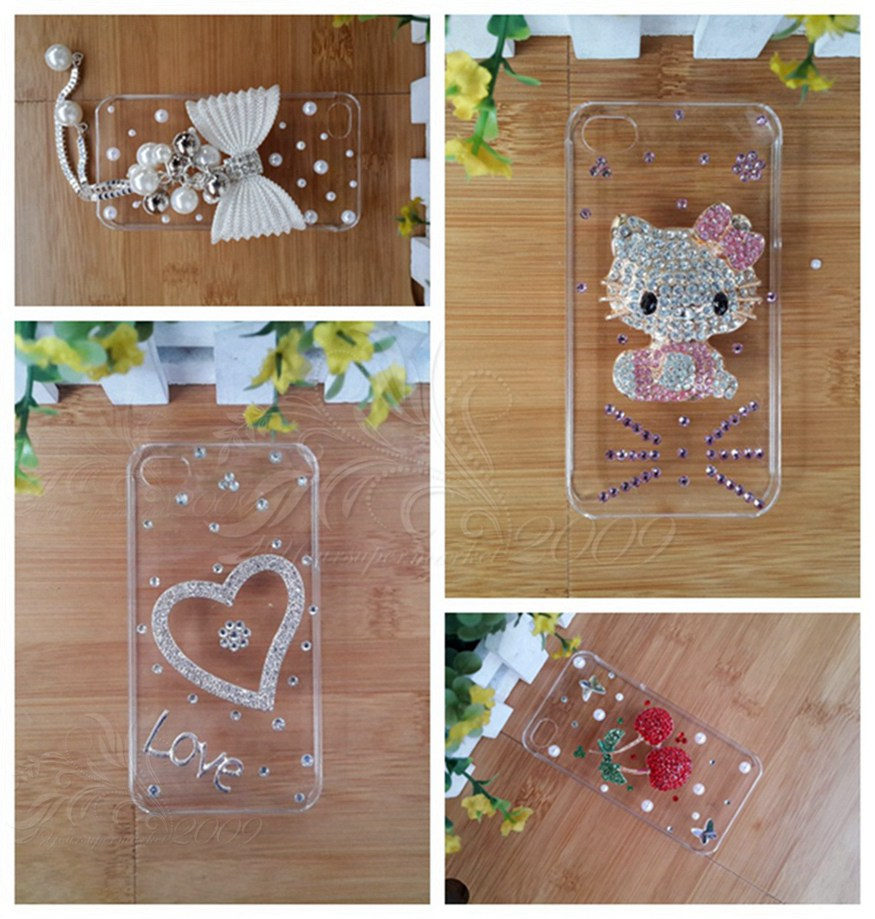 flower peacock fox sheep crown noble Bling jewel diamond protective cover case for BQ Aquaris M5(China (Mainland))