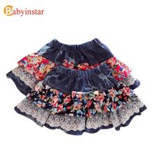 Hot Sale Product 2016 Fashion Summer Baby Girls Tutu Skirts Toddlers Fillibeg Cute Floral Pattern Child Kilt Kids Floral Skirt