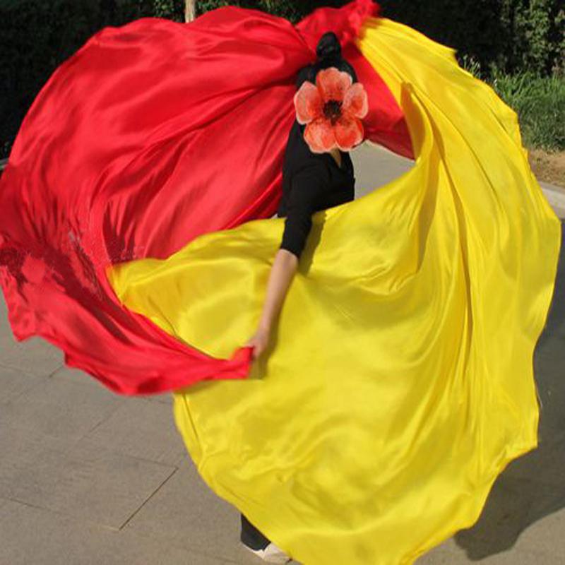HOT Belly Dancing Silk Veils 100% pure silk belly dance Accessory Veil 114x250cm size woman dancers(China (Mainland))