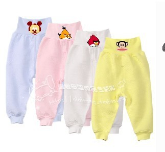 Baby 100% cotton underwear newborn clothes baby umbilical care pants high waist protection belly trousers child panties