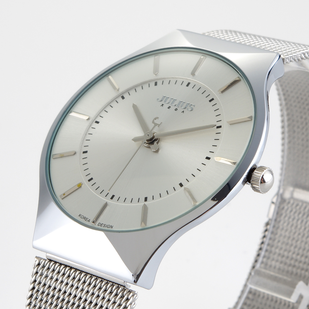 Top Brand Julius Men's Watches Stainless Steel Band Analog Display Quartz Men Wrist watch Ultra Thin