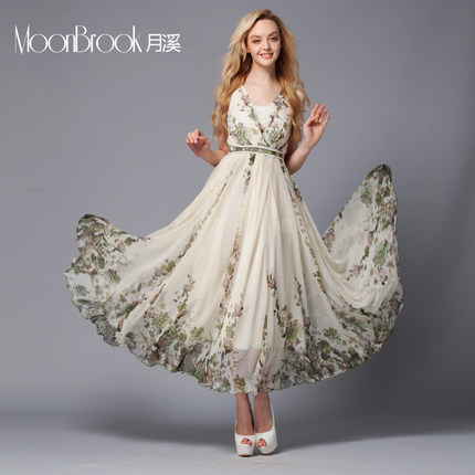 2015 Summer wear new style European Women's clothing Short Chiffon dressT01025 - The silk road Online Store 519062 store
