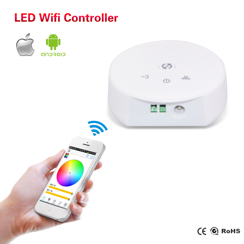 Led Controller for RGBW RGB LED Strip Light DC 12-24V Wireless WiFi Remote Controller IOS/Android Smartphone Music Mode(China (Mainland))