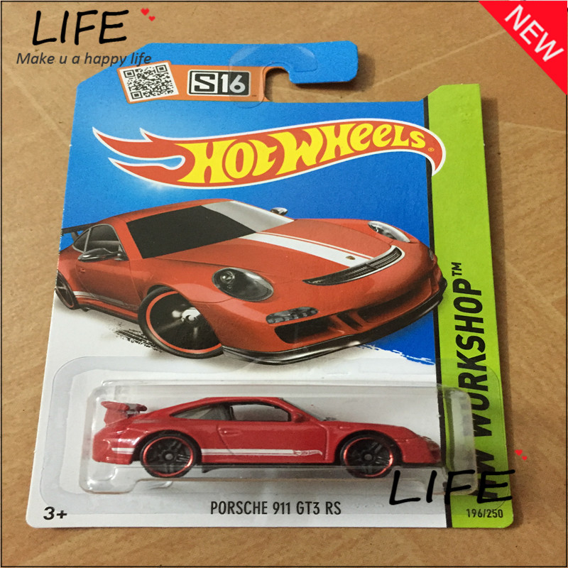 Free Shipping Hot Wheels Porsch 911 GT3 RS Car Models Metal Diecast Cars Collection Kids Toys Vehicle For Children Juguetes 20(China (Mainland))