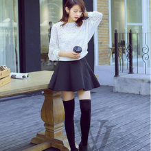 1 Pair 4 Solid Colors Fashion Sexy Warm Knit Thigh High Over The Knee Socks Long Cotton Stockings For Girls Ladies Women