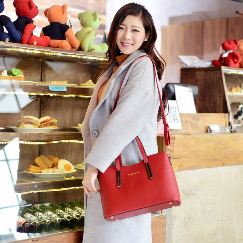 Solid Color Large Bag Simple PU Women Elegant Handbag Trendy Leisure Fashionable Shoulder Bag Ladies Casual Crossbody Bag