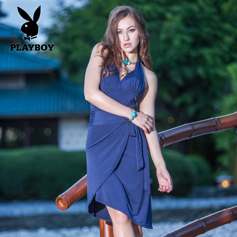 Pursuit 2015 new swimsuit female siamese skirt playboy for Exquisite mobile massage