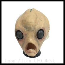 Buy New Scary Silicone Face Mask Alien UFO Extra Terrestrial Party ET Horror Rubber Latex Full Masks Halloween Party Toy Prop for $24.99 in AliExpress store