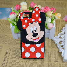 Silicone Case Huawei Ascend G7 P8 P9 Lite Honor 3C 4C 4X 5X 4 Play 3D Cartoon Minnie Mickey Mouse Cover - Christina's No.1 Store store