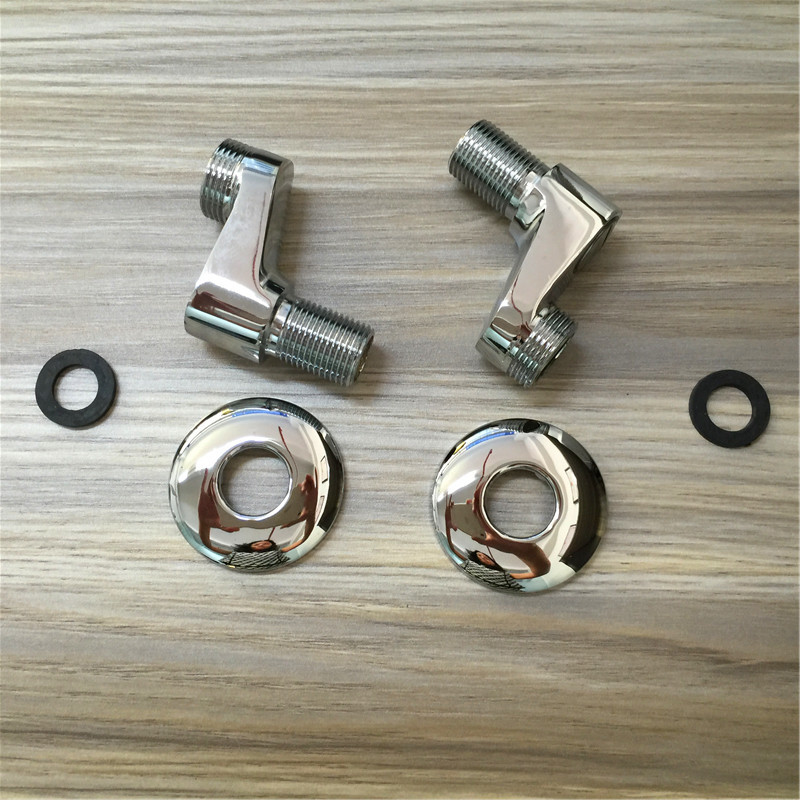 For Song foot curved legs longer thicker All copper chrome foot curved shower mixing valve faucet accessories(China (Mainland))