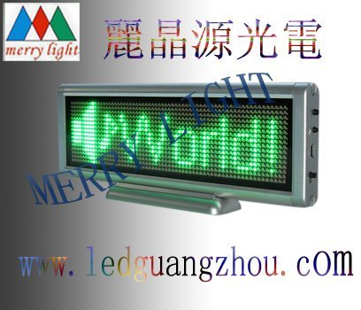 Mini LED Graphic Sign Pure Green 16*64pixels 7.6cm*22.8cm USB Programmalbe Display any langauge in RTF Free Shipping MOQ 1PC