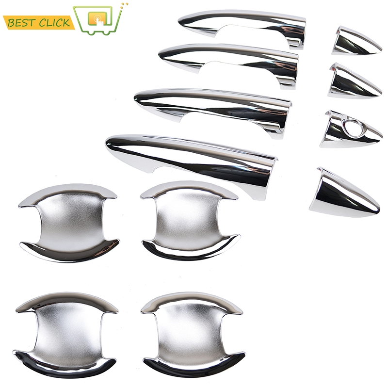 Accessories Fit For 2012 2013 2014 2015 2016 Hyundai Accent / Solaris Verna Chrome Door Handle Bowl Cover Catch Cup Trim Molding(China (Mainland))