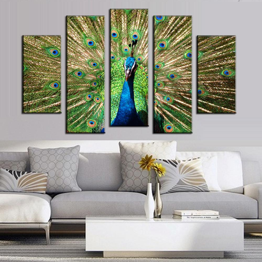 Paintings For Living Rooms Compare Prices On Painting For Living Room Peacock Online