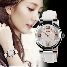 2016 New Women Dress Watches 3ATM Waterproof Genuine Leather Strap Fashion Quartz Watch Student Wristwatch Free ship